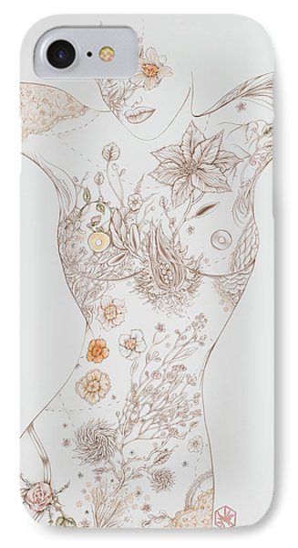 Botanicalia Erica-sold IPhone Case by Karen Robey