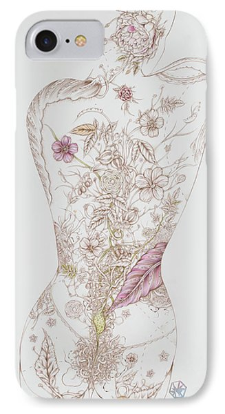 Botanicalia Tristan IPhone Case by Karen Robey