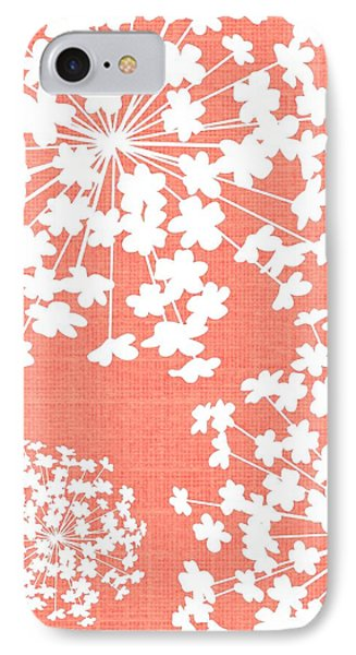 Botanicals In Rose  IPhone Case by Chastity Hoff