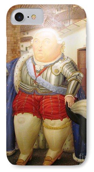 Botero Royal Man IPhone Case by Ted Pollard