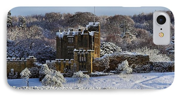 IPhone Case featuring the photograph Bothal Castle In Winter by Les Bell