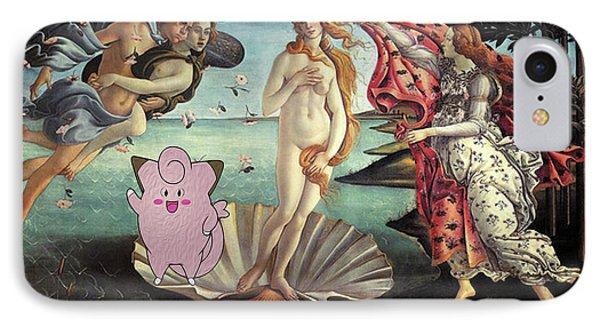 IPhone Case featuring the digital art Botticellimon Birth Of Venus by Greg Sharpe