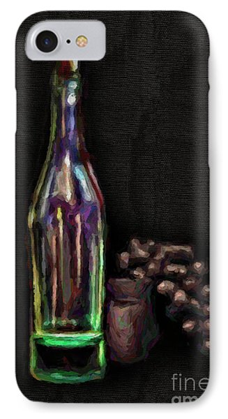 IPhone Case featuring the photograph Bottle And Grapes by Walt Foegelle