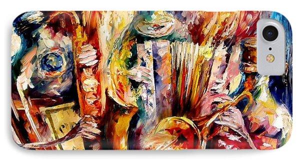 Bottle Jazz Phone Case by Leonid Afremov
