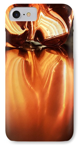 Bottle Reflection - Abstract Colorful Art Square Format IPhone Case by Matthias Hauser