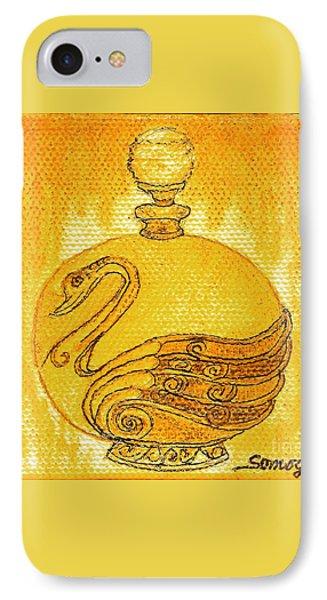 Bottled Gold Swan IPhone Case
