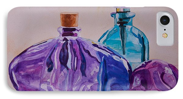 Bottles And Stoppers Phone Case by Jenny Armitage
