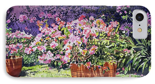 Beverly Hills iPhone 7 Case -  Bougainvillea Flower Pots Beverly Hills by David Lloyd Glover