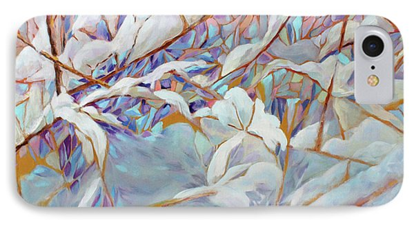 IPhone Case featuring the painting Boughs In Winter by Joanne Smoley