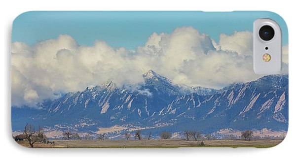 IPhone Case featuring the photograph Boulder Colorado Front Range Cloud Pile On by James BO Insogna