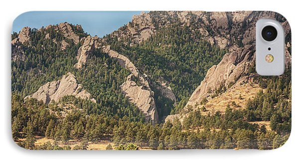 IPhone Case featuring the photograph Boulder Colorado Rocky Mountain Foothills by James BO Insogna