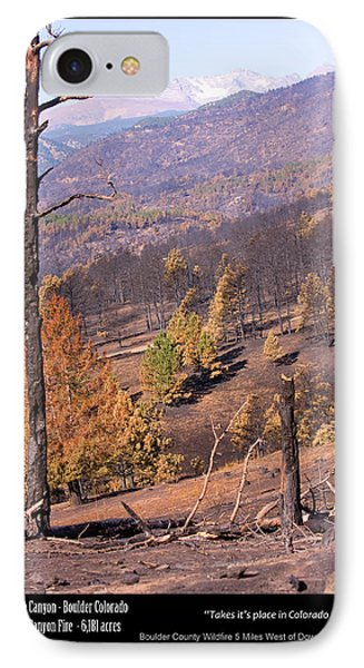 Boulder County Wildfire 5 Miles West Of Downtown Boulder Phone Case by James BO  Insogna