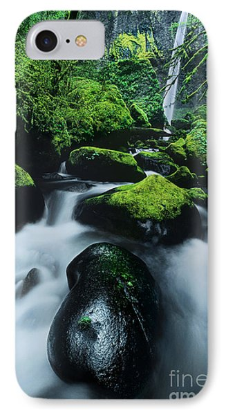 IPhone Case featuring the photograph Boulder Elowah Falls Columbia River Gorge Nsa Oregon by Dave Welling
