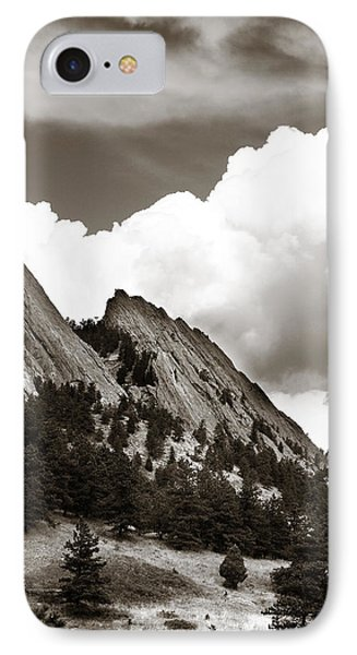 Large Cloud Over Flatirons IPhone Case by Marilyn Hunt