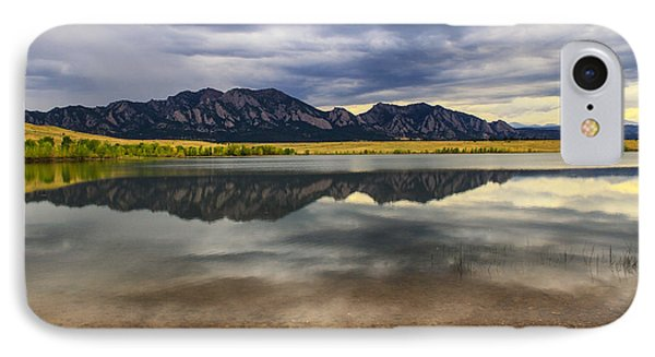 Boulder Flatirons From Marshall Lake IPhone Case by Juli Ellen