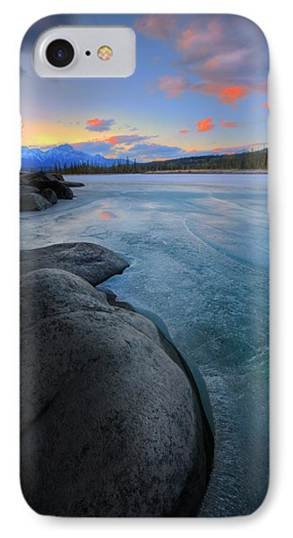 IPhone Case featuring the photograph Boulders And Ice On The Athabasca River by Dan Jurak