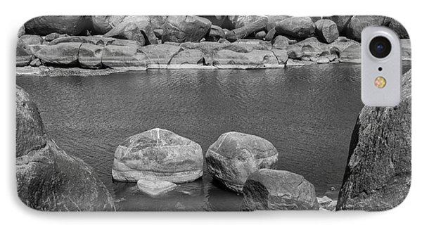 IPhone 7 Case featuring the photograph Boulders Of Tungabhadra, Hampi, 2017 by Hitendra SINKAR