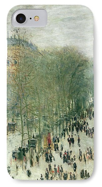 Boulevard Des Capucines IPhone Case by Claude Monet