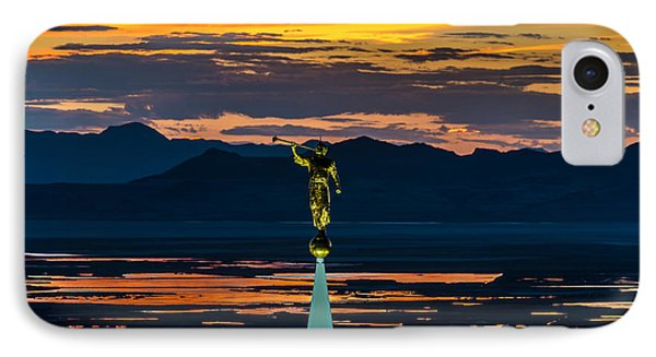 Bountiful Sunset - Moroni Statue - Utah IPhone Case