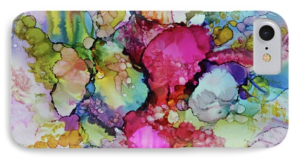 IPhone Case featuring the painting Bouquet In Pastel by Joanne Smoley