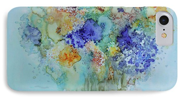 IPhone Case featuring the painting Bouquet Of Blue And Gold by Joanne Smoley
