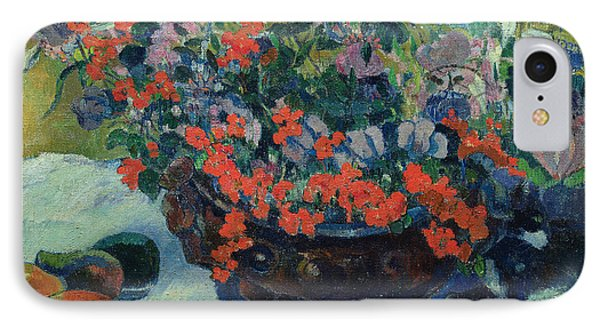 Bouquet Of Flowers IPhone 7 Case by Paul Gauguin