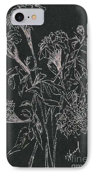 IPhone Case featuring the painting Bouquet Of Flowers  by Vicki  Housel