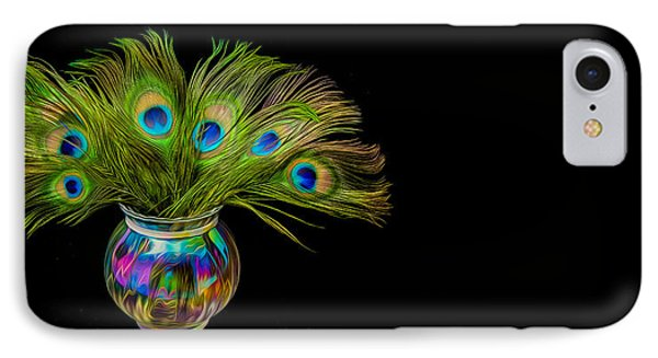 IPhone Case featuring the photograph Bouquet Of Peacock by Rikk Flohr