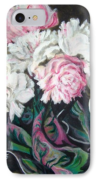 IPhone Case featuring the painting Bouquet Of Peonies by Laura Aceto