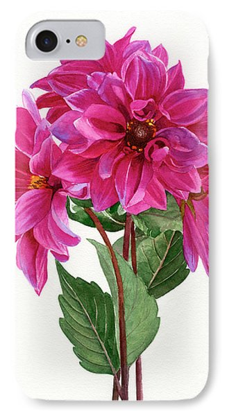 Bouquet Of Rose Violet Dahlias IPhone Case