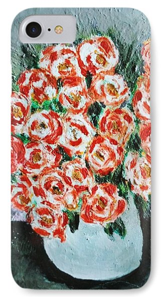 Bouquet Of Roses In The Vase IPhone Case