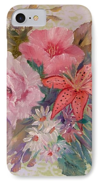 IPhone Case featuring the painting Bouquet by Quwatha Valentine