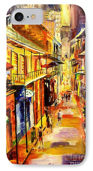 Bourbon Street Glitter Phone Case by Diane Millsap