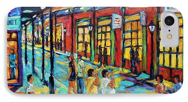 Bourbon Street New Orleans By Prankearts IPhone Case by Richard T Pranke