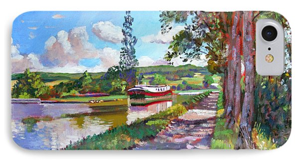 Bourgogne Canal IPhone Case by David Lloyd Glover