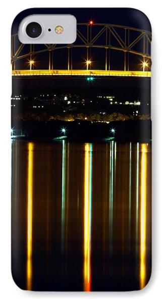 Bourne Bridge At Night Cape Cod Phone Case by Matt Suess
