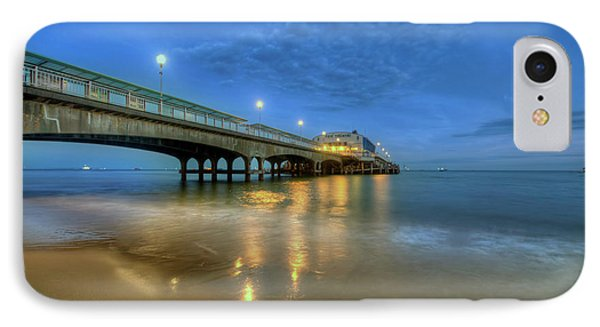 IPhone Case featuring the photograph Bournemouth Pier Blue Hour by Yhun Suarez