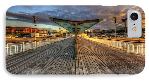 IPhone Case featuring the photograph Bournemouth Pier Sunrise 2.0 by Yhun Suarez