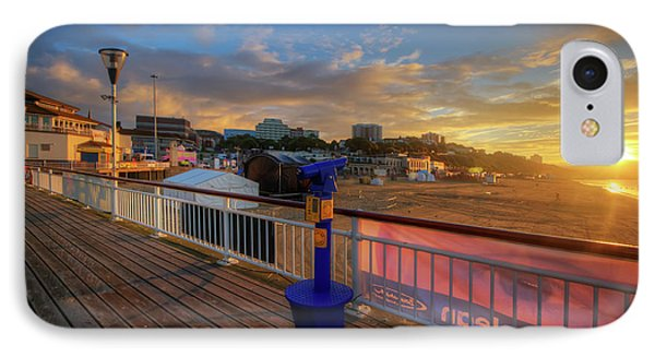 IPhone Case featuring the photograph Bournemouth Pier Sunrise by Yhun Suarez
