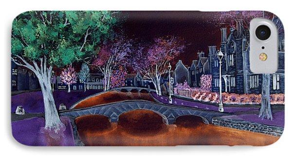 IPhone Case featuring the digital art Bourton At Night II by Elizabeth Lock