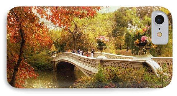 Bow Bridge Autumn Crossing IPhone Case