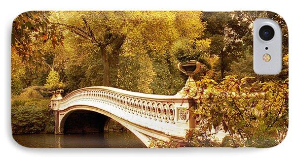 Bow Bridge Autumn Gold IPhone Case