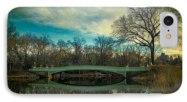 IPhone Case featuring the photograph Bow Bridge Reflection by Chris Lord