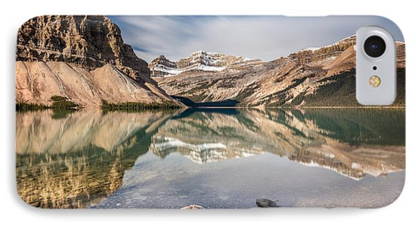 IPhone Case featuring the photograph Bow Lake Glorious Reflection by Pierre Leclerc Photography
