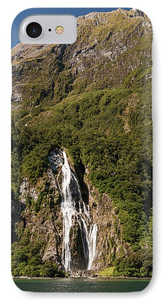 IPhone Case featuring the photograph Bowen Falls Milford Sound by Gary Eason