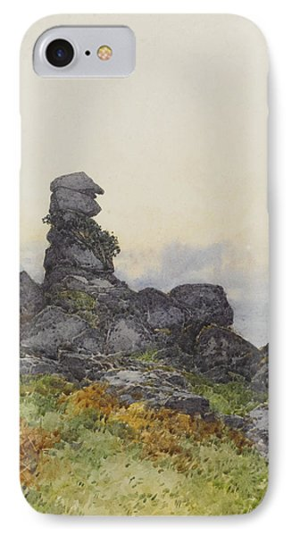 Bowermans Nose, Manaton Dartmoor IPhone Case by Frederick John Widgery