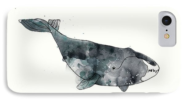 Bowhead Whale From Whales Chart Phone Case by Amy Hamilton