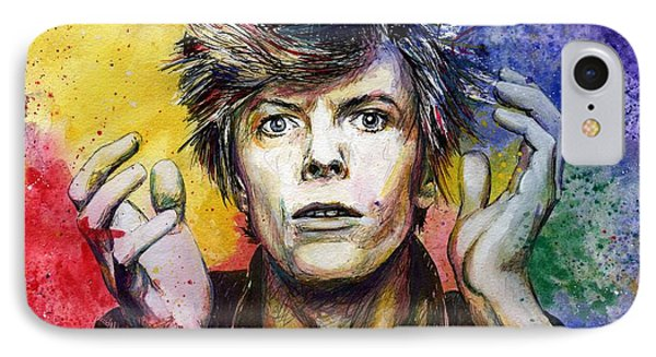 Bowie IPhone Case by Nate Michaels