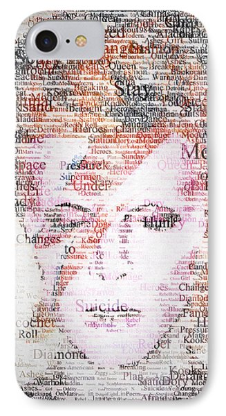 Bowie Typo IPhone Case