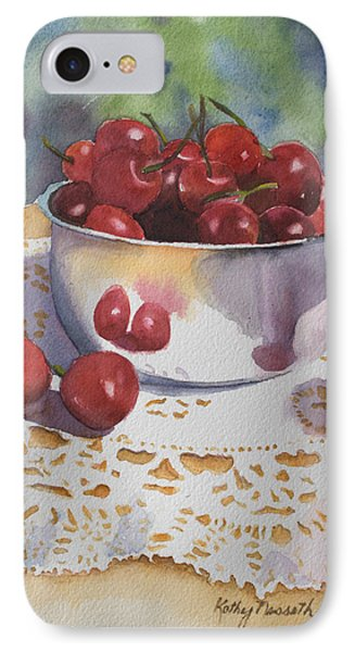 Bowl Of Cherries Phone Case by Kathy Nesseth